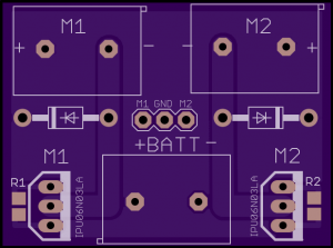 Figure 1: MOSFET motor control board Top