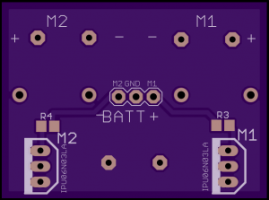 Figure 2: MOSFET motor control board Bottom